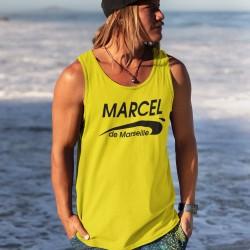Débardeur jaune  personnalisé Brice de Nice