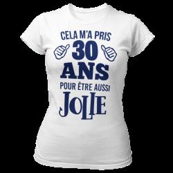 T-SHIRT ANNIVERSAIRE FEMME-AUSSI JOLIE-  Idée Cadeau