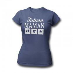 T-SHIRT FEMME NAISSANCE-T-SHIRT FUTURE MAMAN-