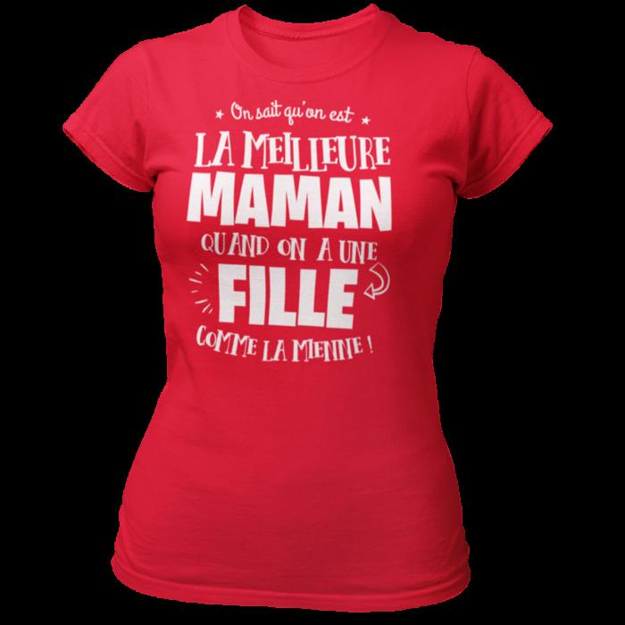 T-SHIRT CADEAU  MAMAN-T-SHIRT LA MEILLEURE MAMAN-