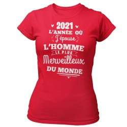 TEE-SHIRT MARIÉE-L'ANNÉE DU MARIAGE