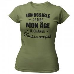 TEE-SHIRT ANNIVERSAIRE - IMPOSSIBLE DE DIRE MON ÂGE