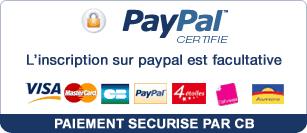 Paiement CB sécurisé avec Paypal
