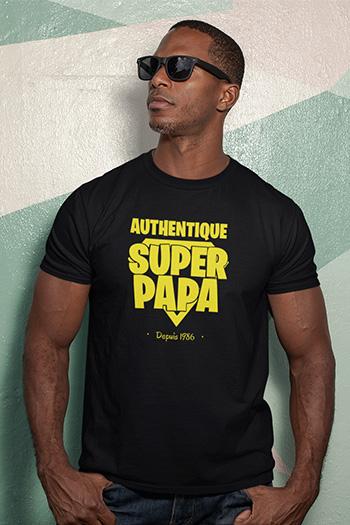Tee-shirt fêtes, anniversaires|Super papa|My kustom France