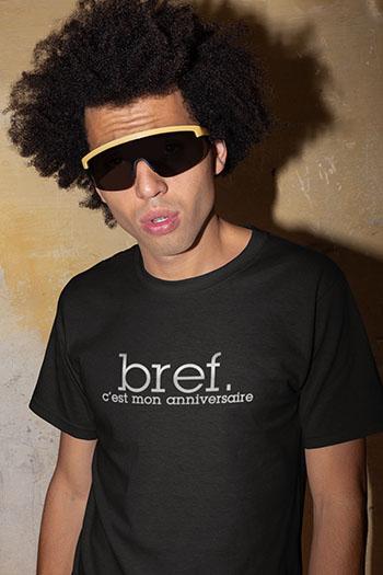 Tee-shirt anniversaire personnalisé Bref