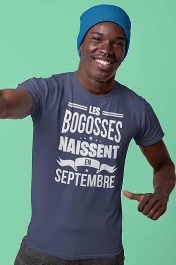 Tee-shirt anniversaire personnalisé Les bogosses naissent My kustom France