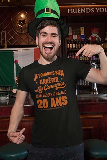 Tee-shirt anniversaire personnalisé Arrêter les conneries My kustom France
