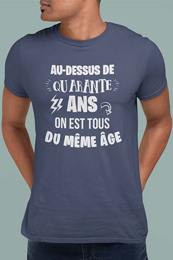 Tee-shirt anniversaire personnalisé 40 ans My kustom France