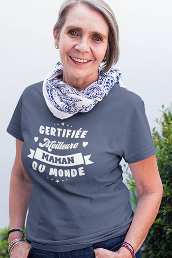 Tee-shirt anniversaire,fête personnalisé maman meilleure du monde My kustom France